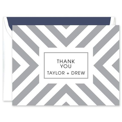 Silver Stripes Note Card