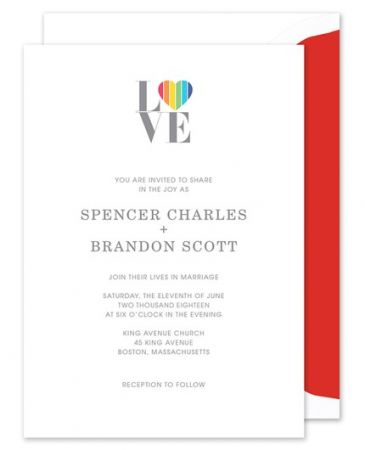 Rainbow Love Invitation