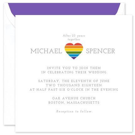 Rainbow Heart Invitation