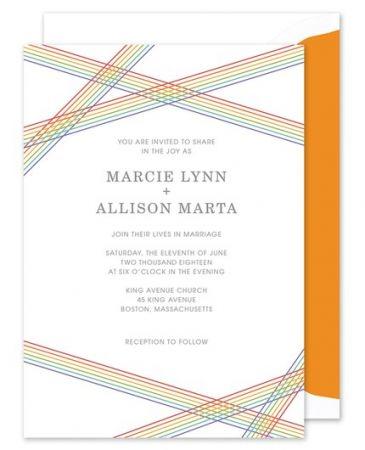 Rainbow Stripes Invitation