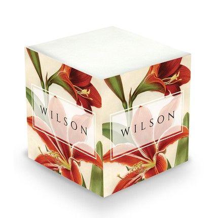 Amaryllis Sticky Note Cube