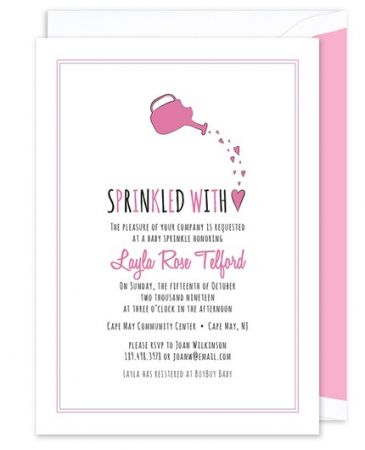 Sprinkled Pink Invitation