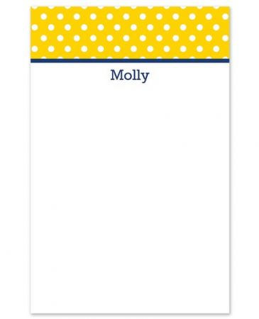 Polka Dot Note Pad