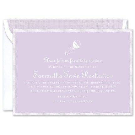 Lilac Rattle Invitation