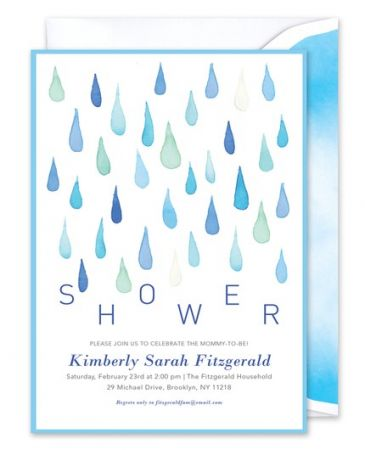 Blue Shower Invitation