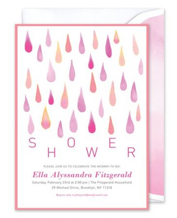 Pink Shower Invitation