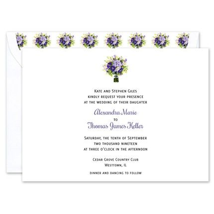 Bridal Bouquet Invitation