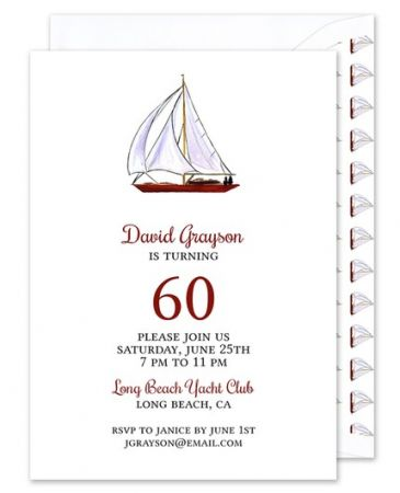 Sailboat Invitation