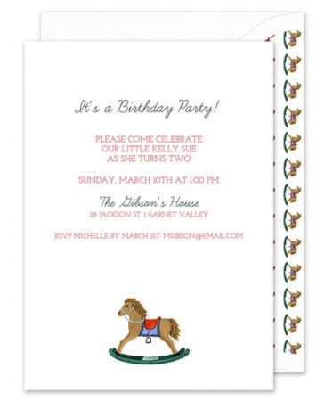 Rocking Horse Invitation
