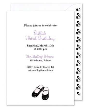 Mary Janes Invitation