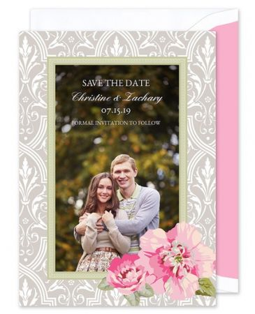 Damask Floral Save the Date