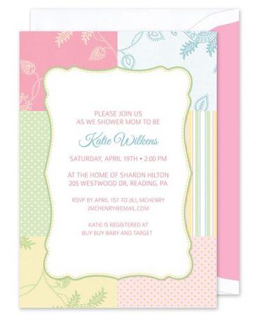 Pastel Patchwork Invitation