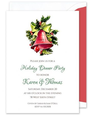Holly Bells Invitation
