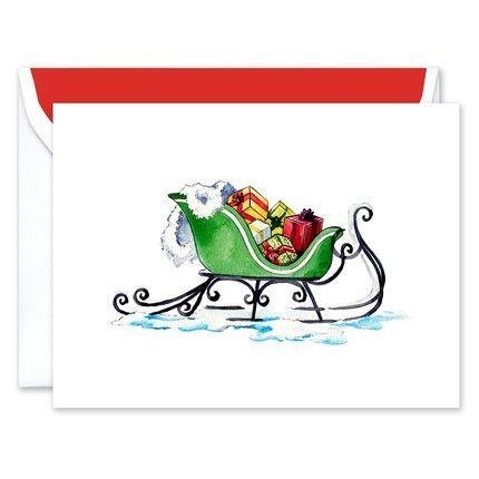 Sleigh Greeting Card