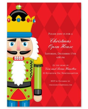 Red Nutcracker Invitation