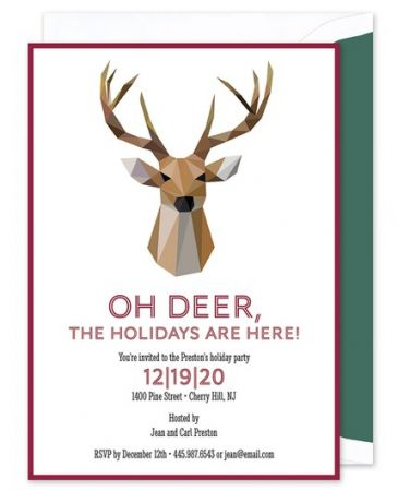Reindeer Invitation