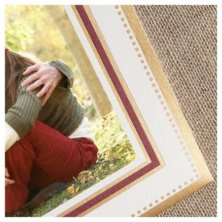 Claret & Gold Photo Card