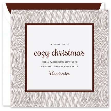 Cozy Christmas Greeting Card