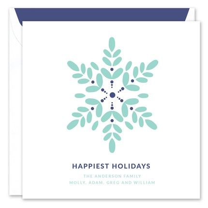 Blue Snowflake Greeting Card