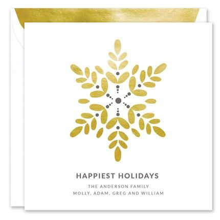 Gold Snowflake Greeting Card