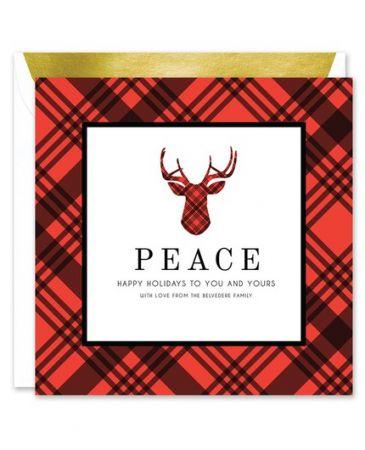 Plaid Reindeer Greeting Card
