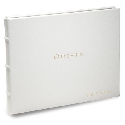 White Leather Guest Book