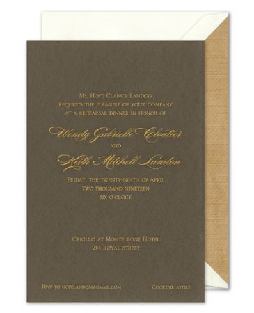 Small Pewter Invitation