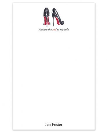 Red Sole Note Pad