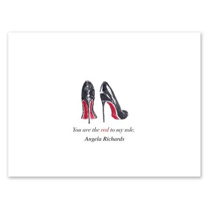 Red Sole Note Card