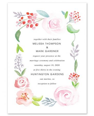 Wedded Florals Invitation