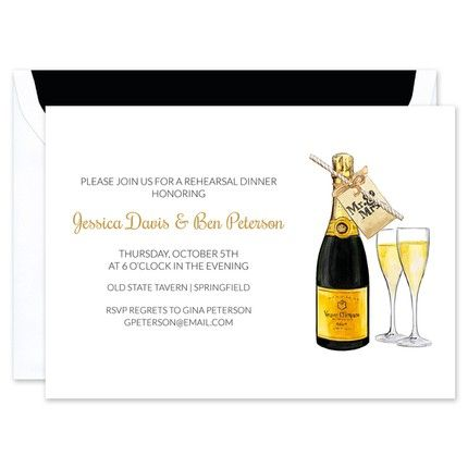 Bubbly Toast Invitation