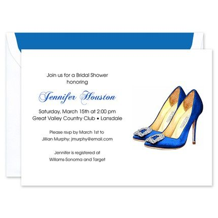 Cobalt Heels Invitation
