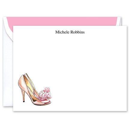 Blush Heels Flat Card