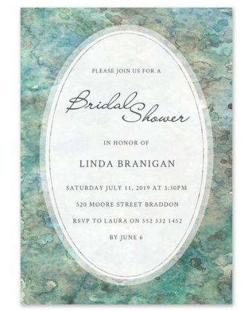 Watercolor Shower Invitation