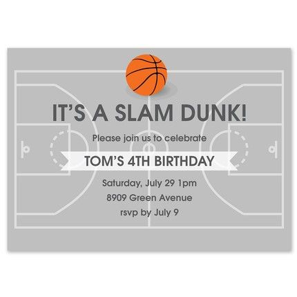 Free Throw Invitation