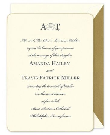 Gilt-Edge Invitation