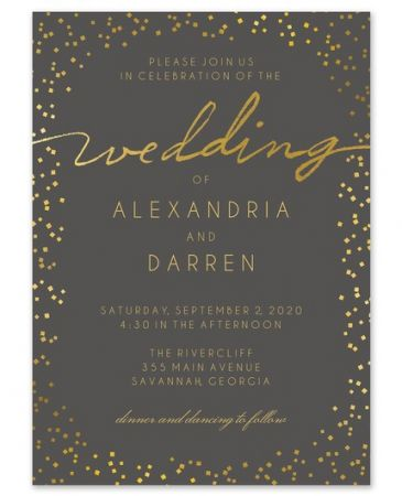 Gorgeous Confetti Invitation