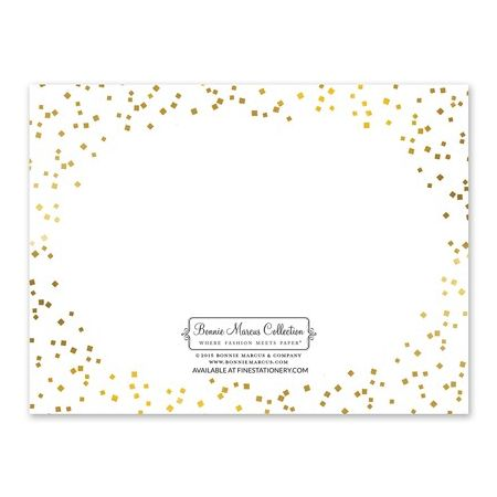Gorgeous Confetti Note Card