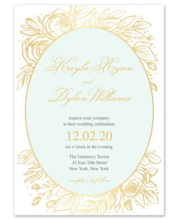 Antique Floral Invitation