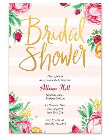 Fabulous Floral Invitation
