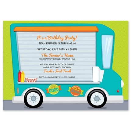 Food Truck Fun Invitation