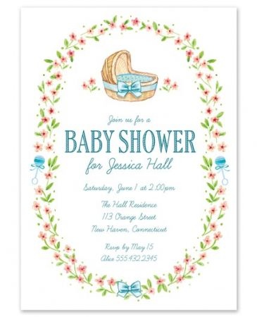 Blue Wildflower Invitation