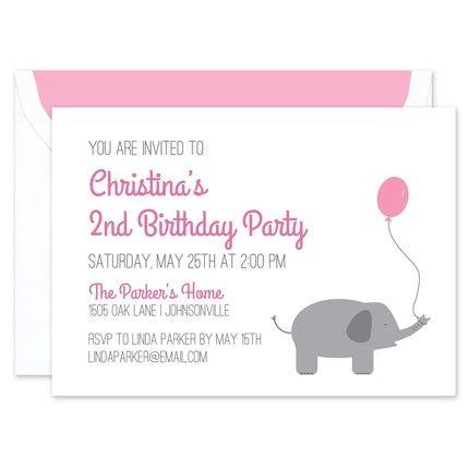 Pink Balloon Invitation