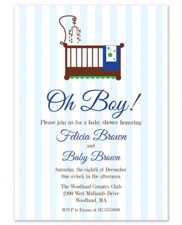 Blue Stripes Invitation