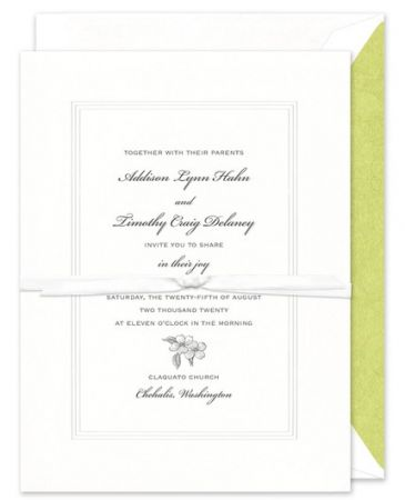 White Pantheon Invitation
