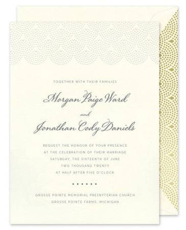 Scalloped Pearls Invitation