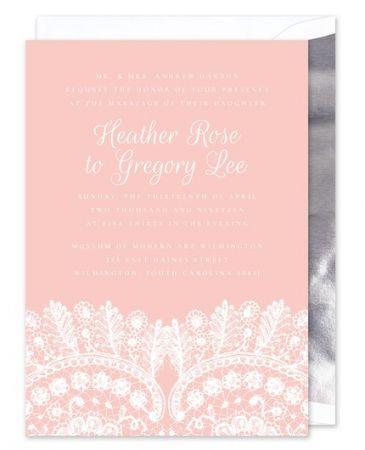 Rose Lace Invitation