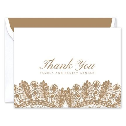 Café Lace Note Card