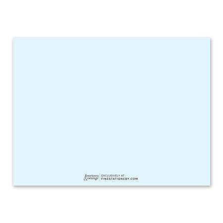 Soft Blue Note Card