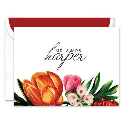 Bold Flora Note Card